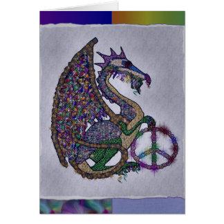 Dragón Jeweled de la paz Tarjeta Pequeña