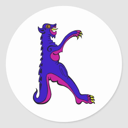Dragon K Classic Round Sticker