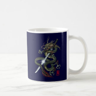 Dragon katana3 coffee mug
