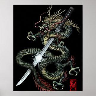 Dragon katana3 posters