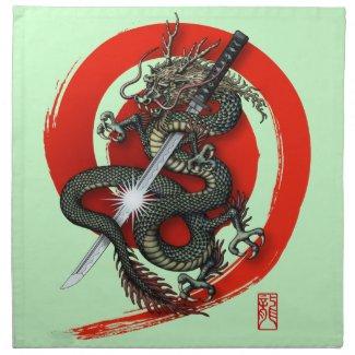 Dragon katana4 cloth napkin