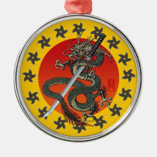 Dragon katana 2 metal ornament