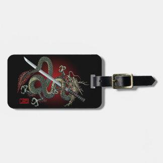 Dragon katana bag tag