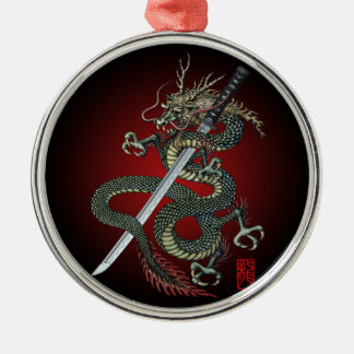 Dragon katana metal ornament