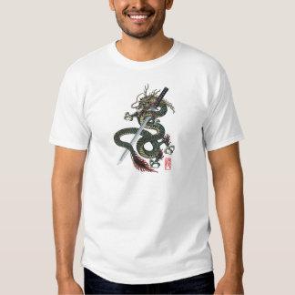 Dragon katana tee shirt