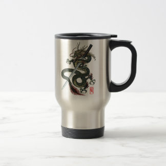 Dragon katana travel mug