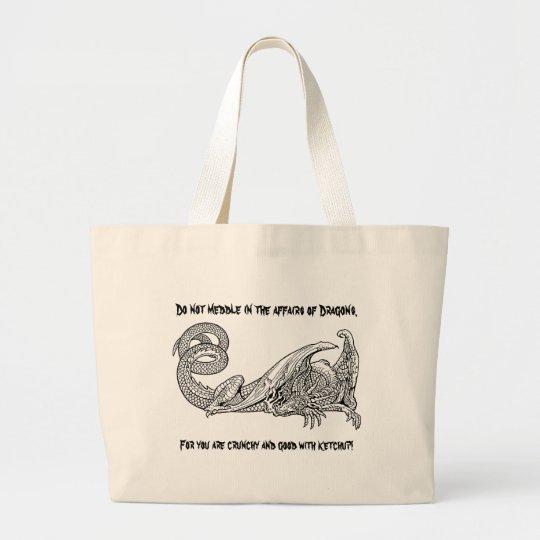 Dragon Ketchup 2 Large Tote Bag