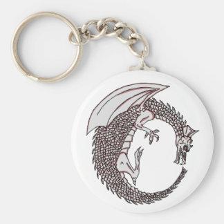 Dragon Key Chain! Basic Round Button Keychain
