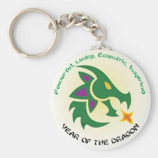 Dragon Keys Basic Round Button Keychain