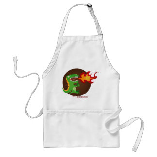 Dragon kids art by little t and M.E. Volmar Adult Apron