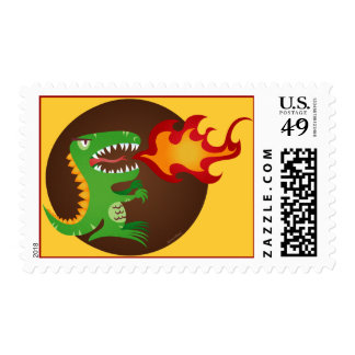 Dragon kids art by little t and M.E. Volmar Postage Stamps