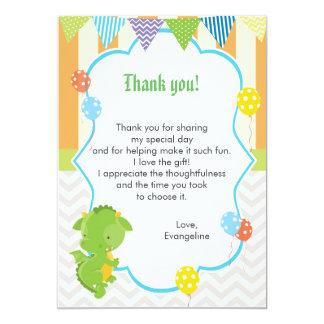 Dragon Kids Birthday Thank You Card Note