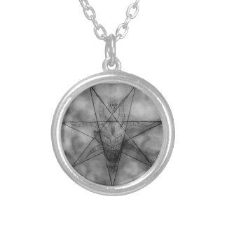 Dragon King Ov Witchcraft Baphomet Round Pendant Necklace