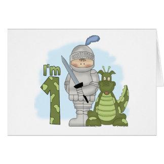 Dragon Knight 1st Birthday Invitation