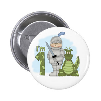Dragon Knight 1st Birthday Pinback Button