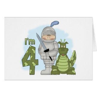 Dragon Knight 4th Birthday Card