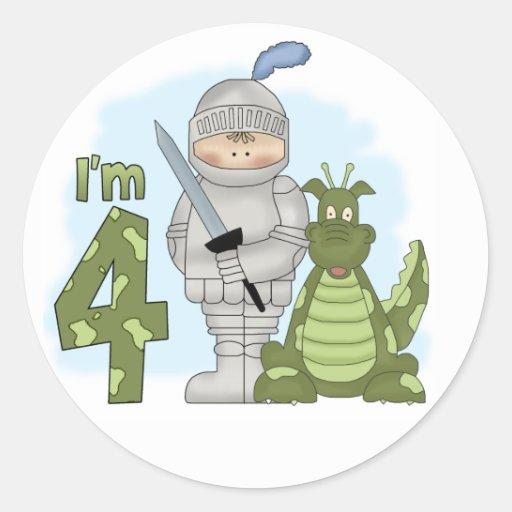 Dragon Knight 4th Birthday Sticker