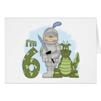 Dragon Knight 6th Birthday Card