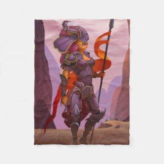 Dragon knight fleece blanket