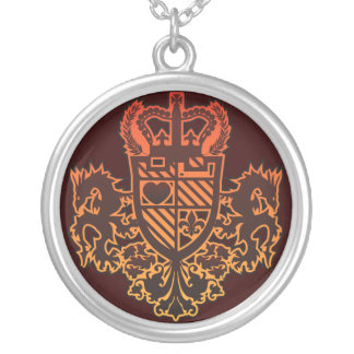 Dragon_Knight Silver Plated Necklace