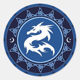 Dragon Knot 1 Classic Round Sticker