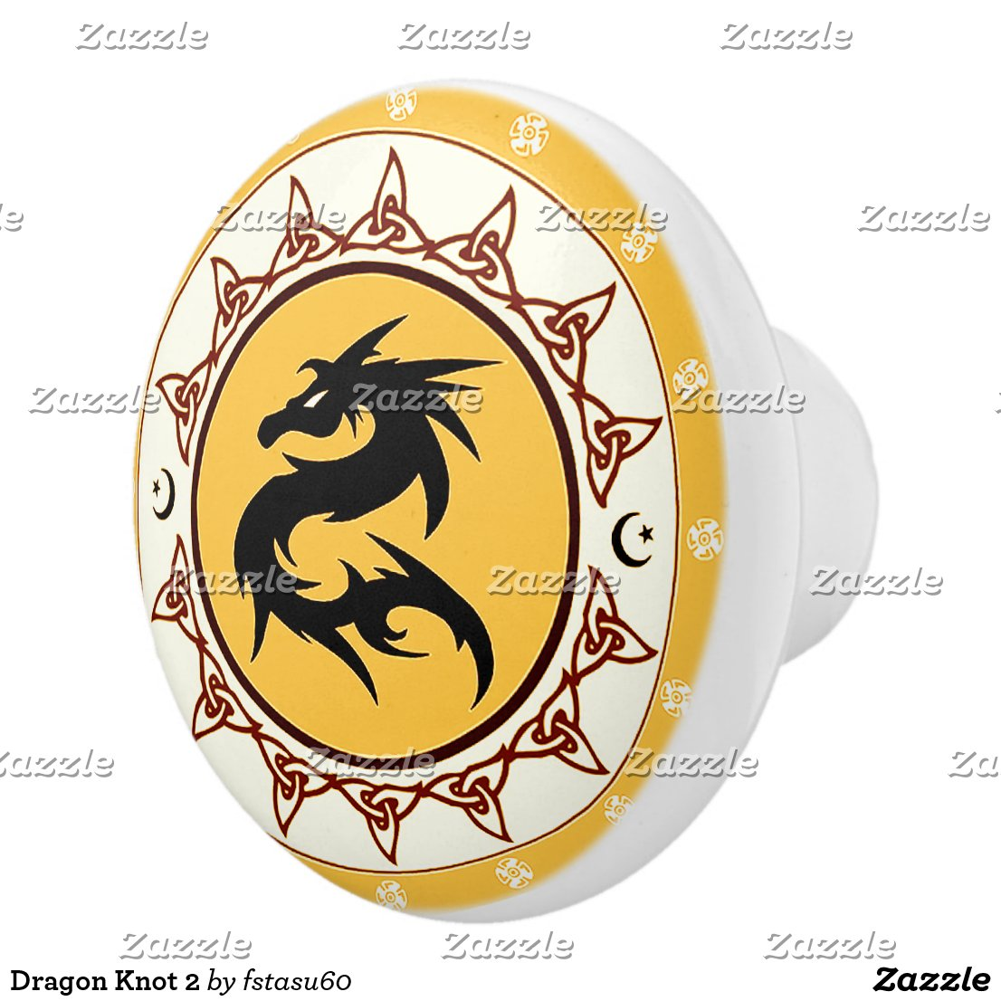 Dragon Knot 2 Ceramic Knob