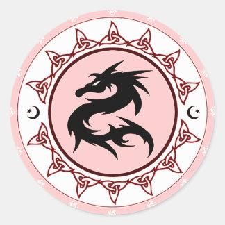 Dragon Knot 3 Classic Round Sticker