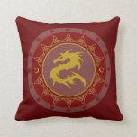 Dragon Knot 7 Throw Pillow