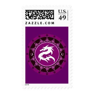Dragon Knot 9 Postage Stamp