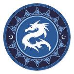 Dragon Knot Classic Round Sticker
