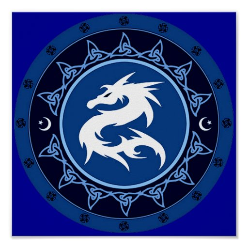 Dragon Knot Poster