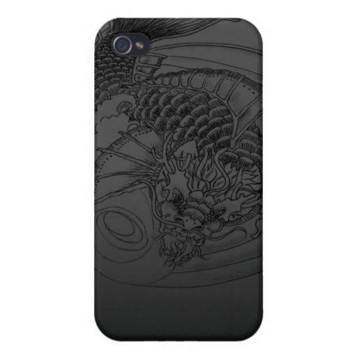 Dragon Koi tattoo Design iPhone 4/4S Cover