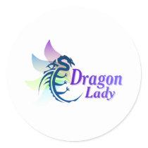 Dragon Lady Classic Round Sticker