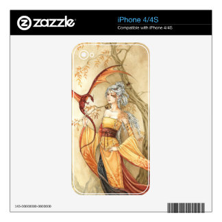 Dragon Lady, Fantasy Art, iphone case Skin For iPhone 4S