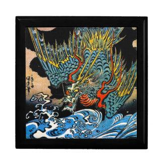 Dragón legendario antiguo japonés oriental fresco cajas de joyas