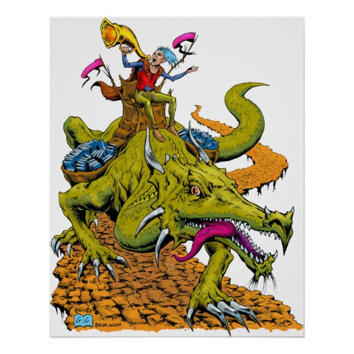 Dragon Library Poster