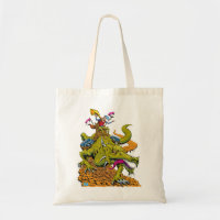 Dragon Library Tote Bag bag