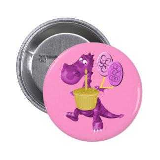Dragón lindo con el botón de la magdalena pin