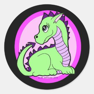 Dragón lindo de Kawaii Pegatina