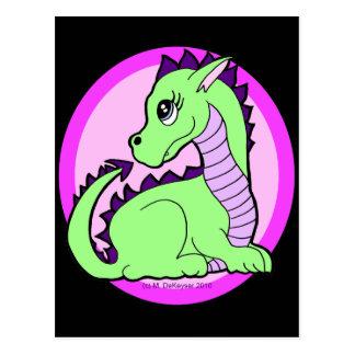 Dragón lindo de Kawaii Postal
