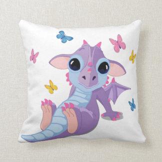Dragón lindo del bebé almohadas