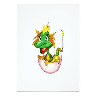 """Dragón lindo del bebé de la fantasía invitación 5"""" x 7"""""""