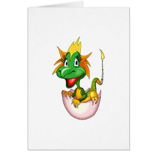 Dragón lindo del bebé de la fantasía tarjeta de felicitación