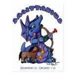 dragón lindo del bebé del zodiaco del sagitario postales