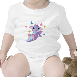 Dragón lindo del bebé traje de bebé