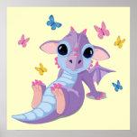 Dragón lindo del bebé poster