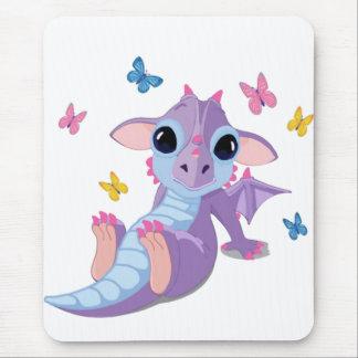 Dragón lindo del bebé tapetes de ratones