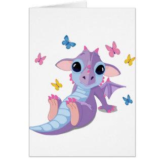Dragón lindo del bebé felicitacion