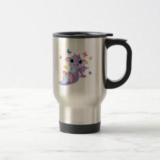 Dragón lindo del bebé tazas de café