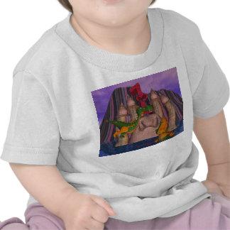Dragón lindo del remiendo del cumpleaños dos de camiseta